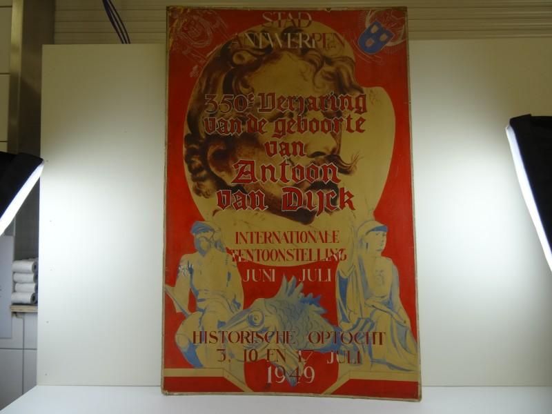 Affiche stad Antwerpen 350j Antoon Van Dijck