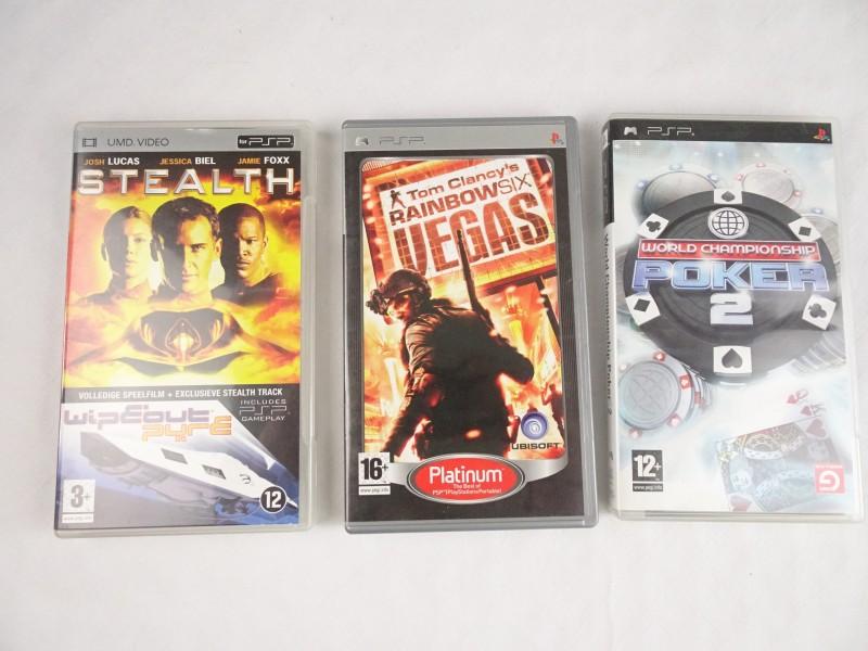 2 psp games + 1 UMD Video.