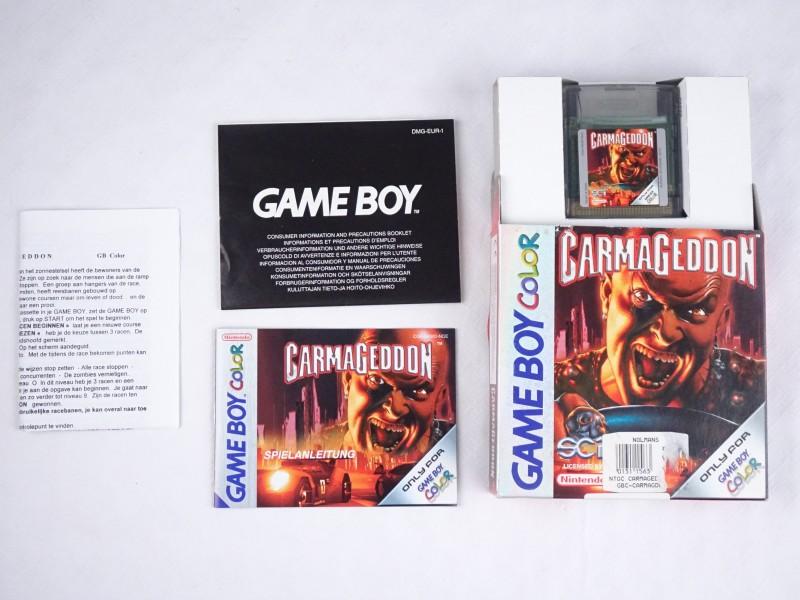 Nintendo Gameboy Color spel: CARMAGEDDON.