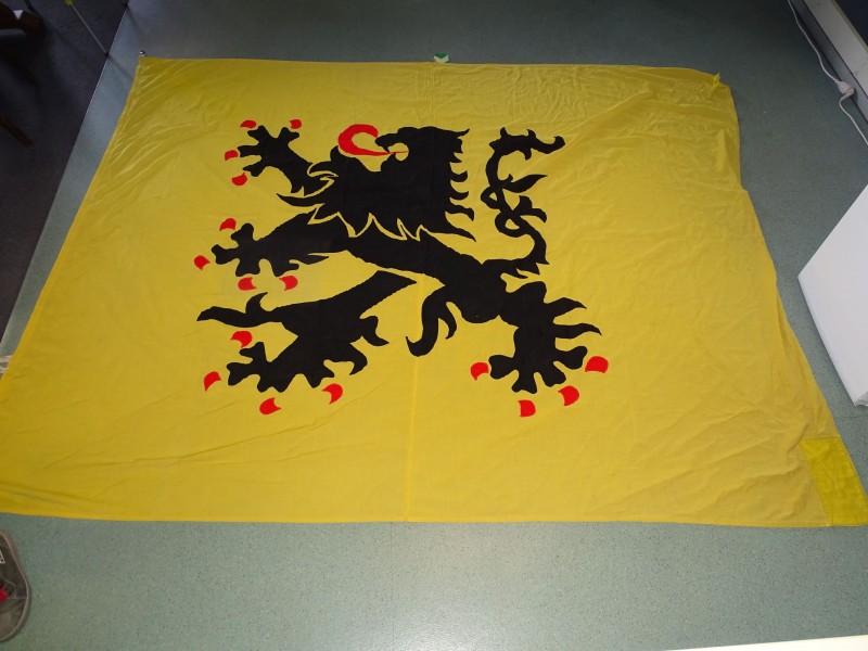 Zeer Grote Oude Vlaamse Leeuwen Vlag