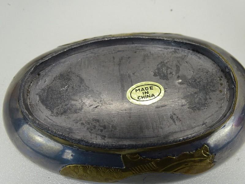 2 Tinnen Eenden / Bewaardoosjes, Made in China