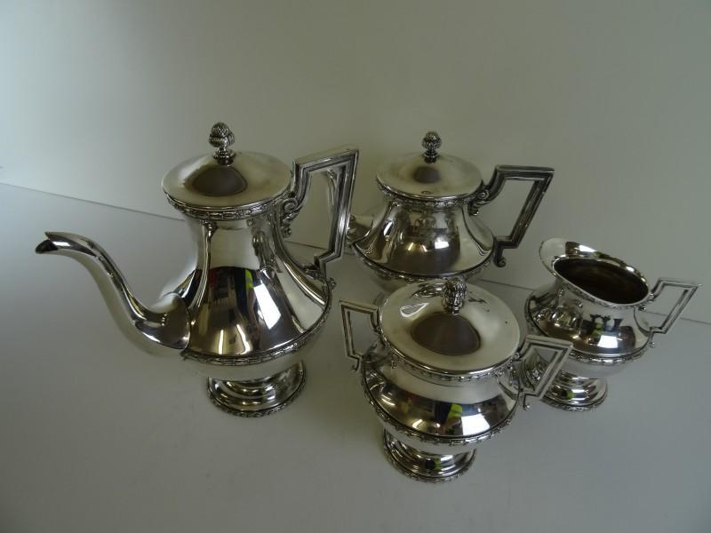 Verzilverde koffie-set CAMA