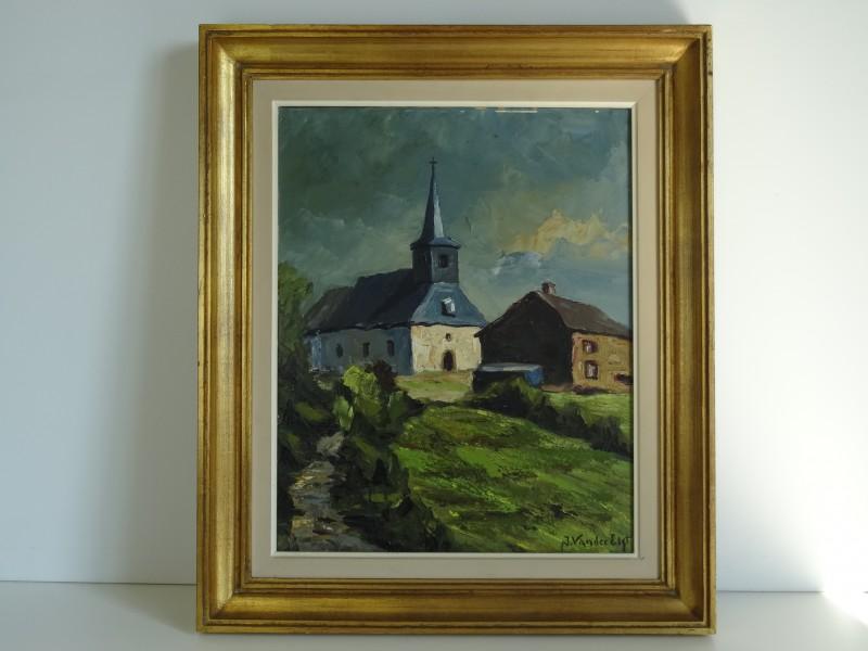 Jacques Vander Elst kerk in landschap