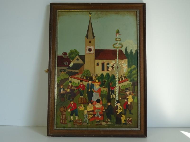 Petra Schwanenbeck schilderij met klokje