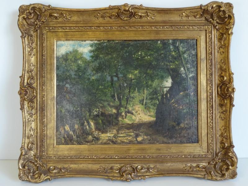 Schilderij holle weg 20e eeuw