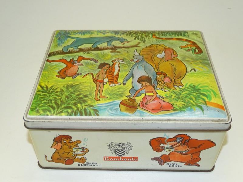 Blikken Doos: Rombouts Koffie, Disney, Jungle Book, 1965