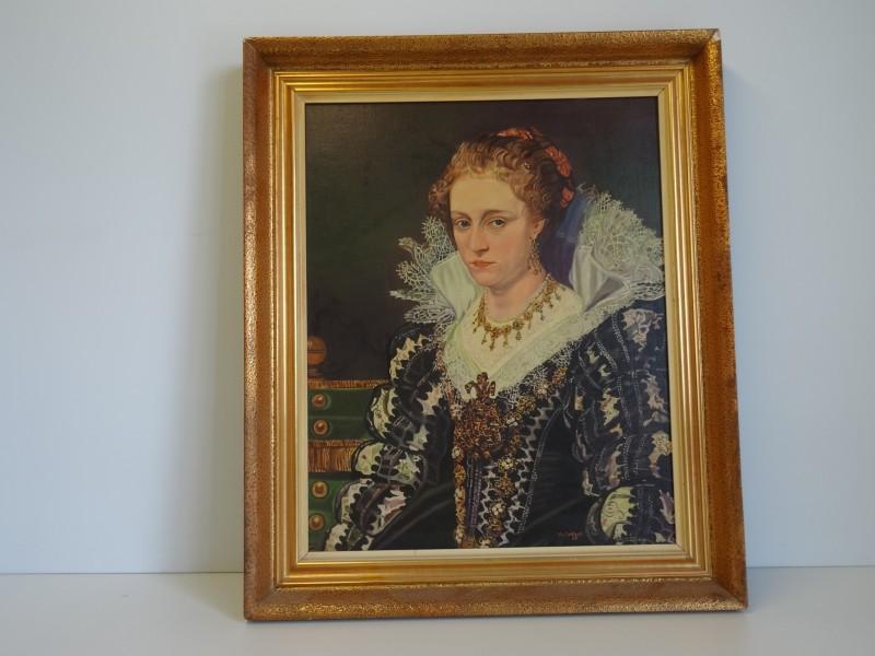 Vic. Tertrap: Portret van Jacqueline van Caestre naar P.P. Rubens