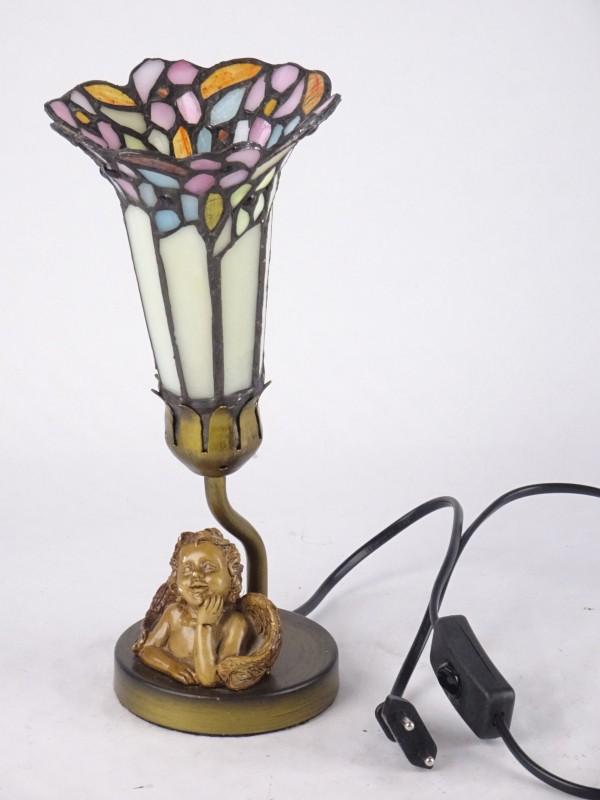Tiffany stijl lamp met engeltje.