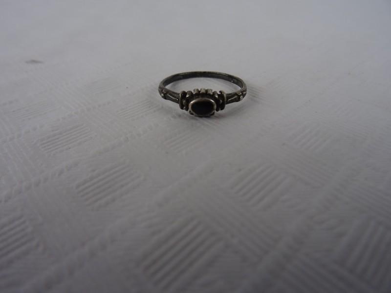 Art deco zilveren ring