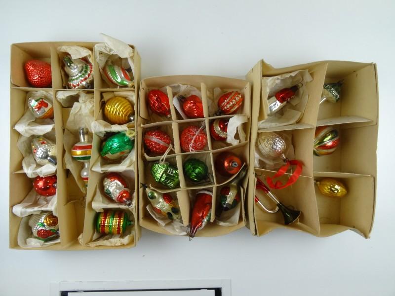 Oud Kerstballen - set 3