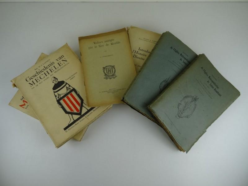 J. Laenen: lot van 5 oude boeken rond Mechelen: Nederlands en Frans