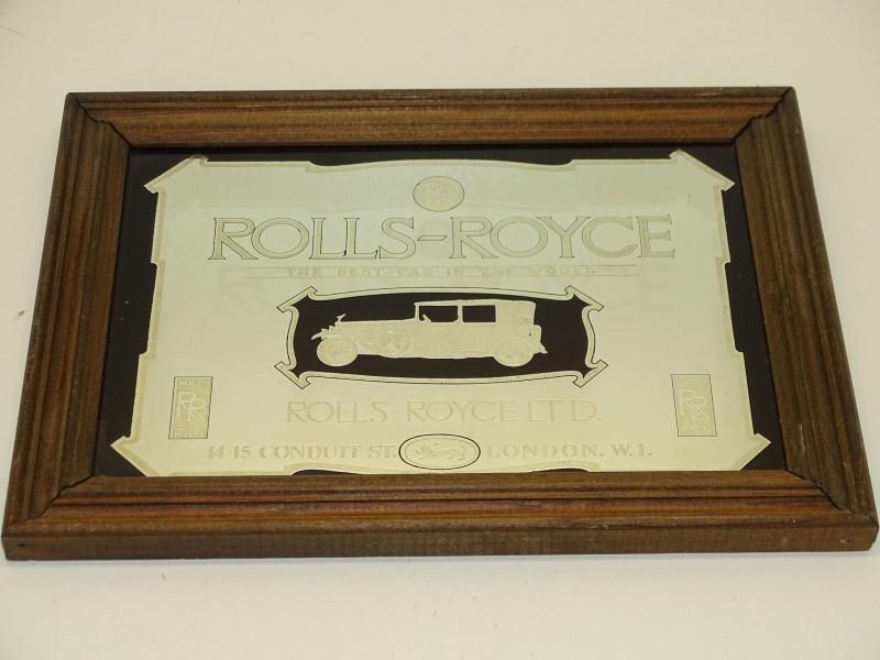 Reclame Spiegel: Rolls Royce Ltd., London