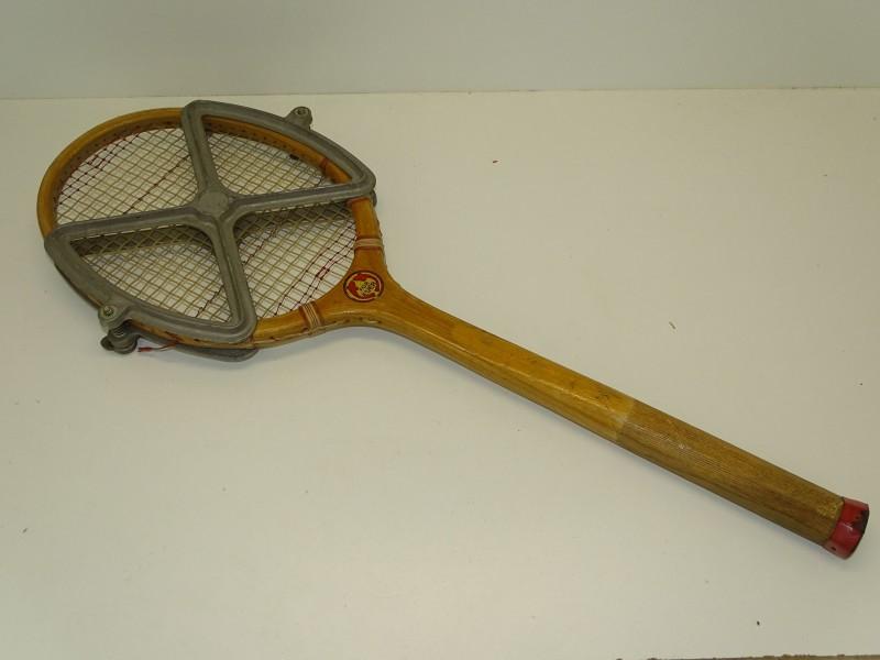 Houten Tennisracket met Bescherming: For Ever