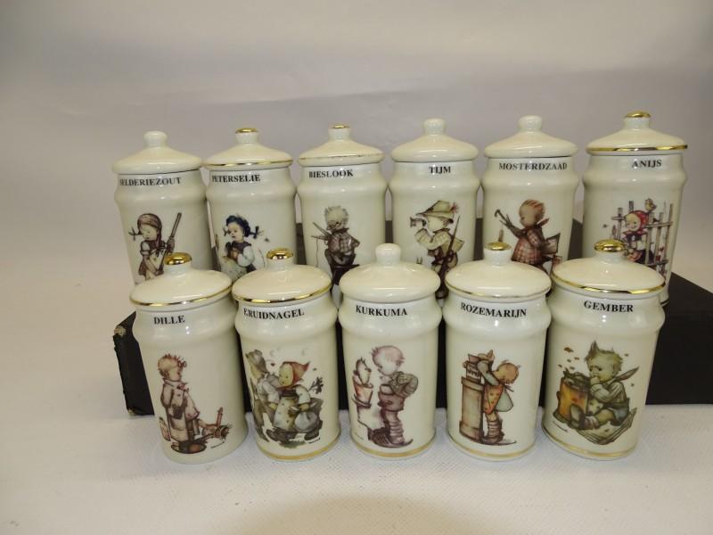 11 Porseleinen Kruidenpotjes: Hummel, Goebel, Extec Edition