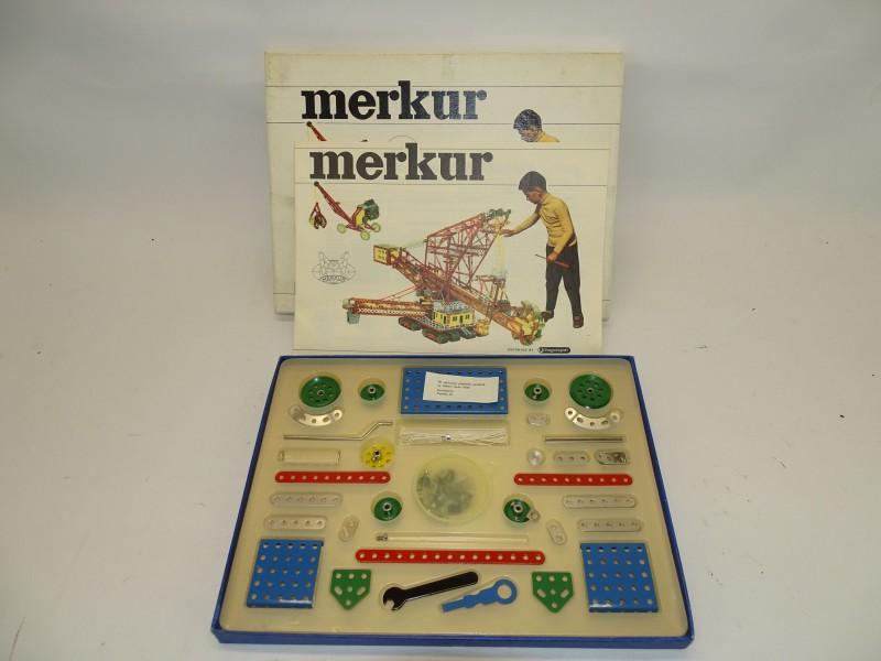 Vintage Metalen Constructiespel, Merkur