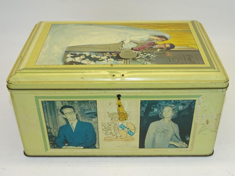 Blikken doos Koning Boudewijn en Koningin Fabiola, 1960