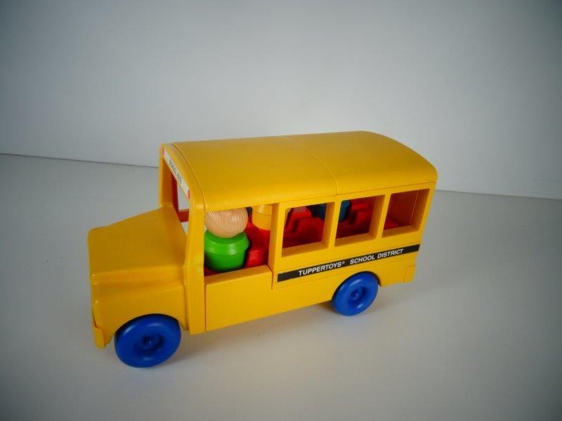 Tupperware Tuppertoys vintage schoolbus 1987