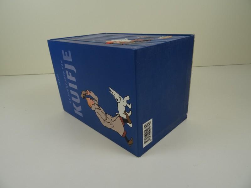 Kuifje Box blauw met 8 albums 2008