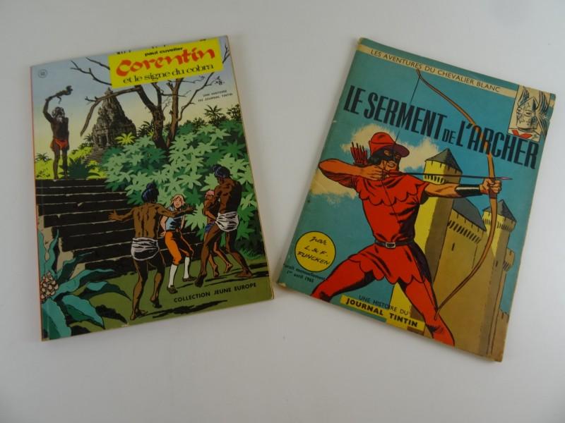 2 x  Franse strips uit weekblad Kuifje jaren '60