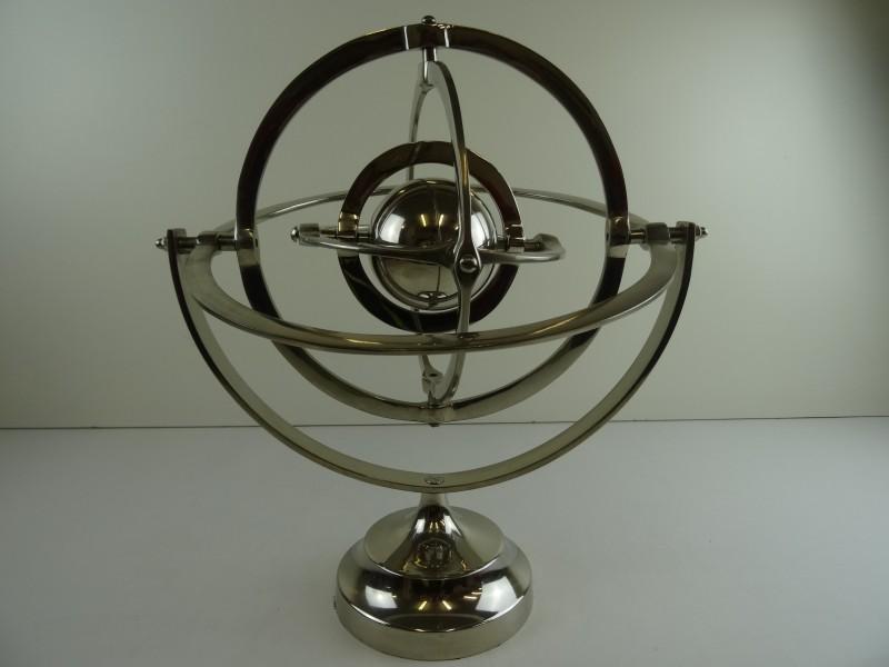 Globe Armilarium  chroom