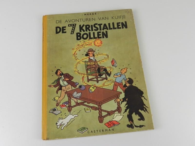 Hergé: Kuifje: 7 kristallen bollen 1949 herdruk