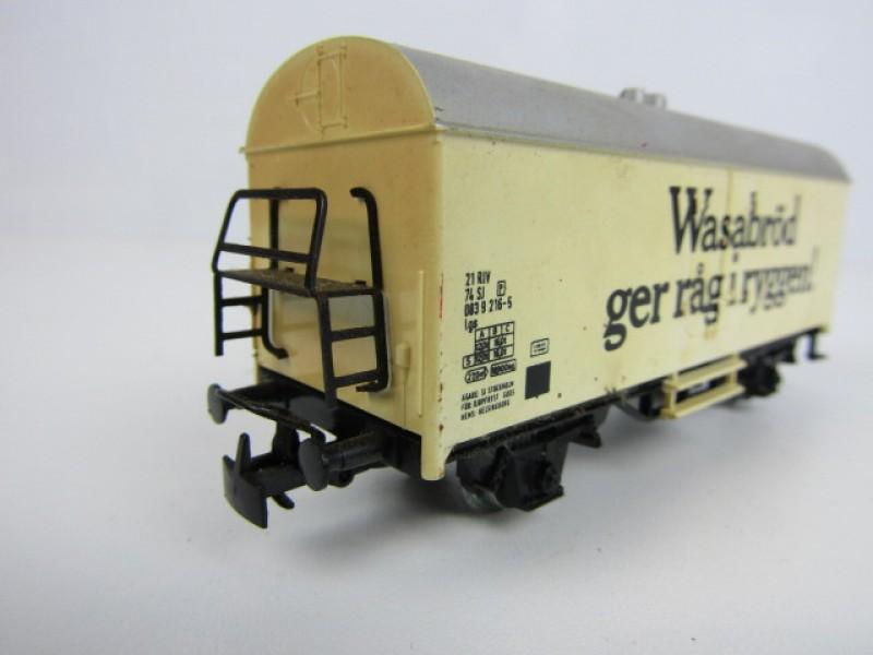Modeltrein, Märklin HO, Goederenwagon 'Wäsabröd'