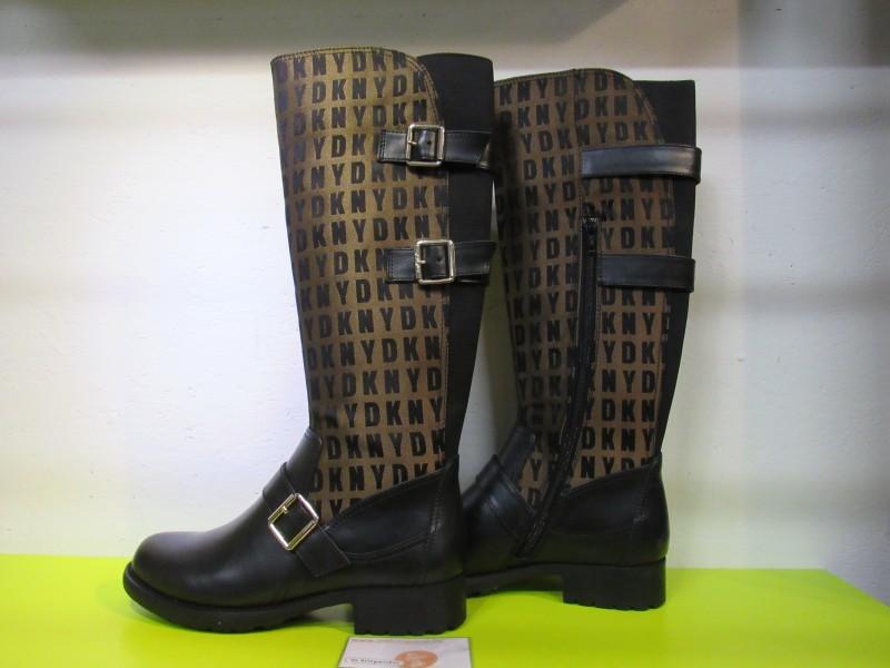 Laarzen DKNY zwart/bruin, maat 38