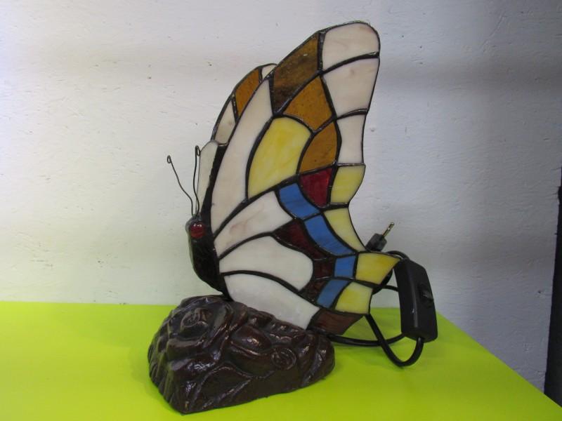 Tafellamp Tiffany vlinder, getest en werkend