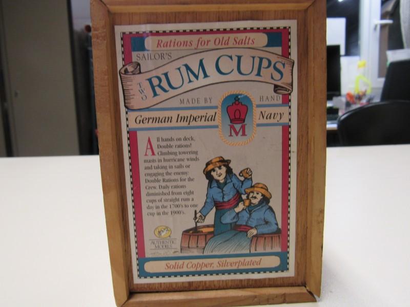 Twee sailors rum cups