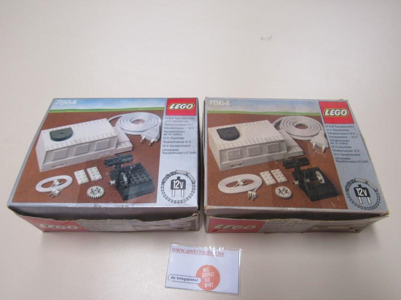 Lego 12 volt transformator 7864, twee stuks