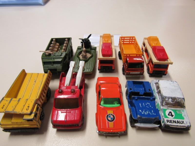 Lot van tien auto's - Matchbox - jaren 1978