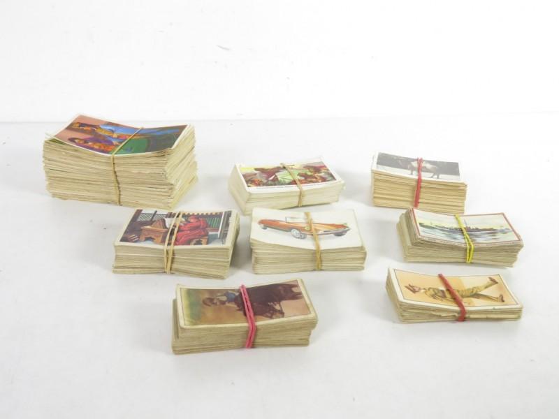 Verzameling vintage plakprentjes