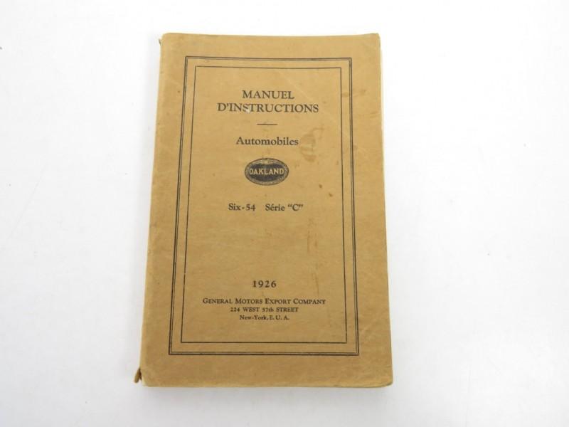 Instructieboekje General motors 1926