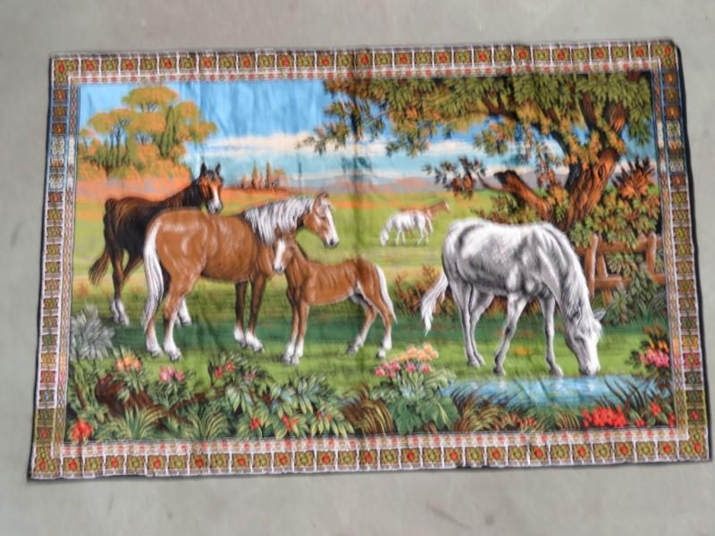 Wandtapijt met paarden