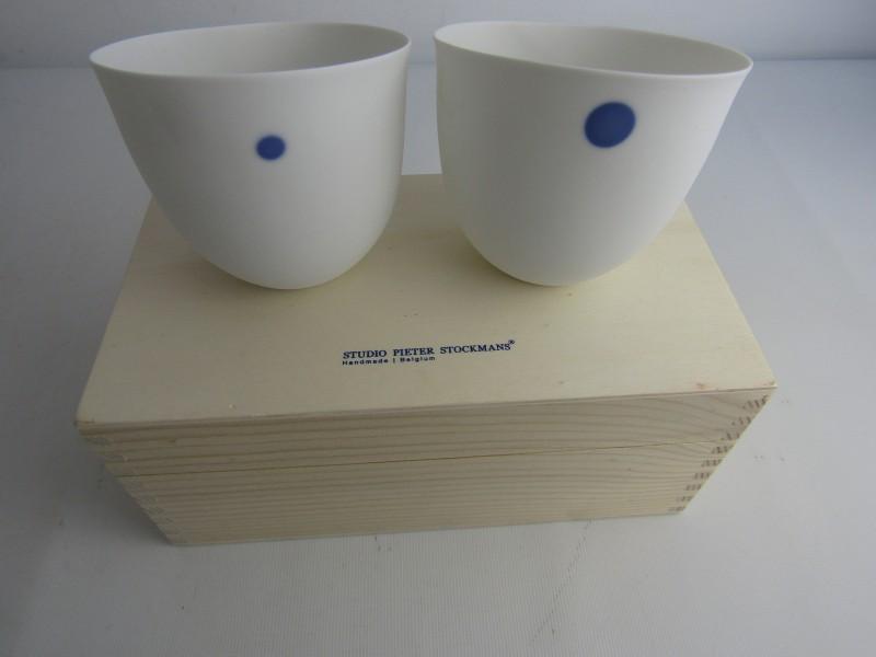 2 x Belgisch Porselein: Studio Pieter Stockmans, Handmade