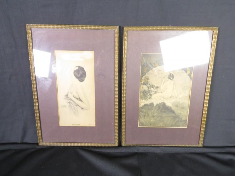 Set van 2 kaders gemerkt Raphael kirchner