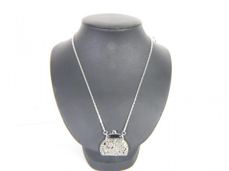 Zilveren halsketting 925 met hanger met markasieten