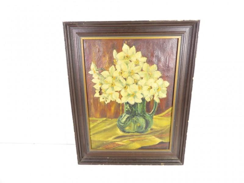 Schilderij bloemen in een vaas