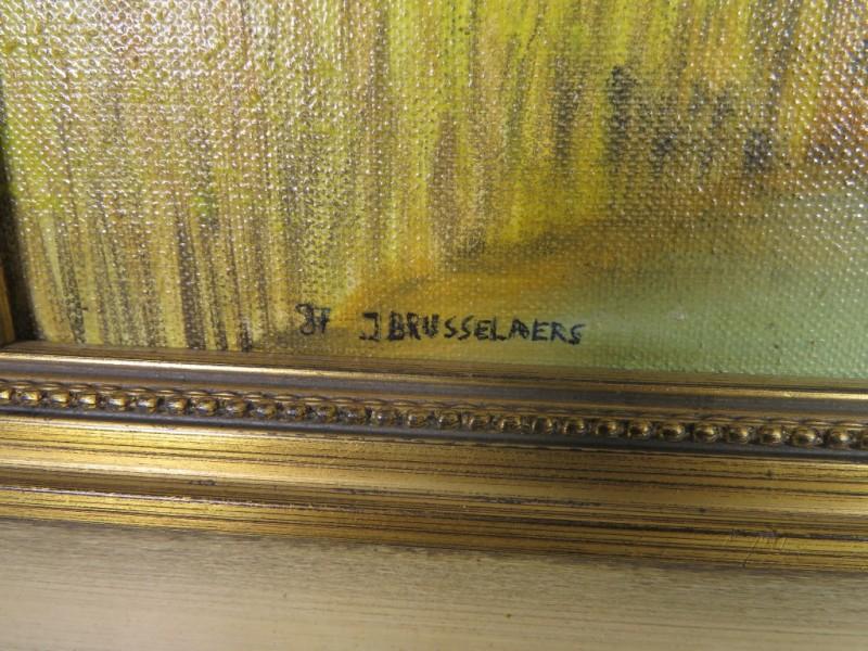 Schilderij op doek gemerkt J.Brusselaers