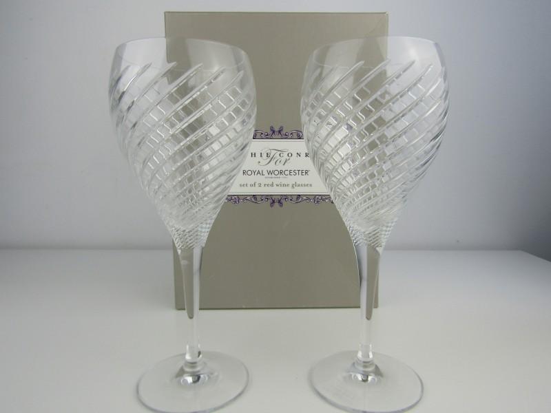2 Luxe Wijnglazen: Sophie Conran, Royal Worcester