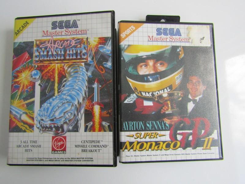 2 x Spelletjes: Sega Master System