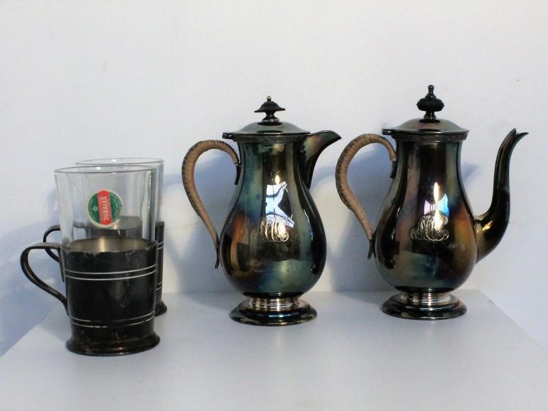 Mappin 'n Webbs Princes Plated kannen + Duralex cups