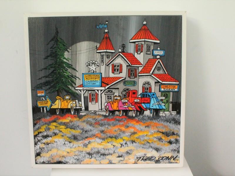 Schilderij: Fred Bonn - Acryl op Paneel