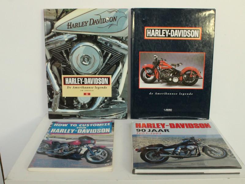 4 Boeken: Harley Davidson