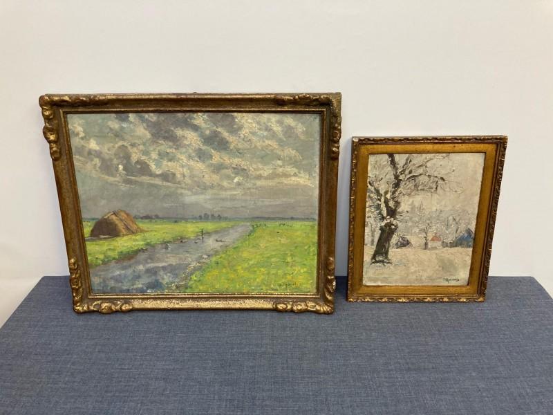 Lot van 2 schilderijen van Julia Rysheuvels