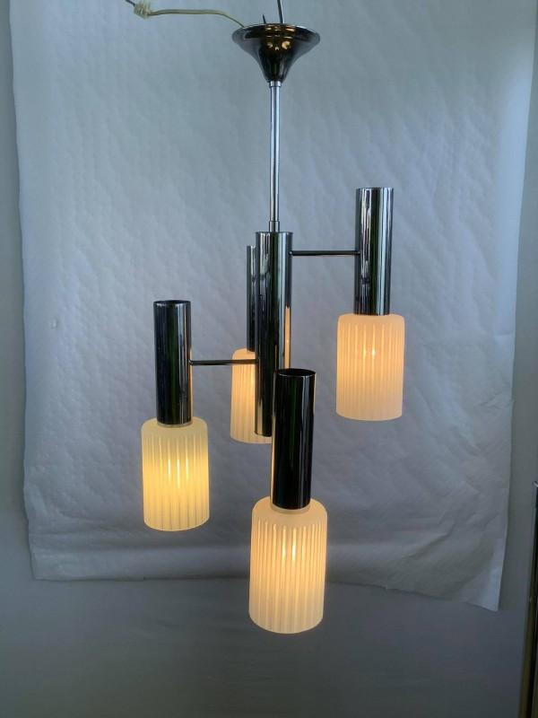 Retro plafondlamp met 4 lichtpunten