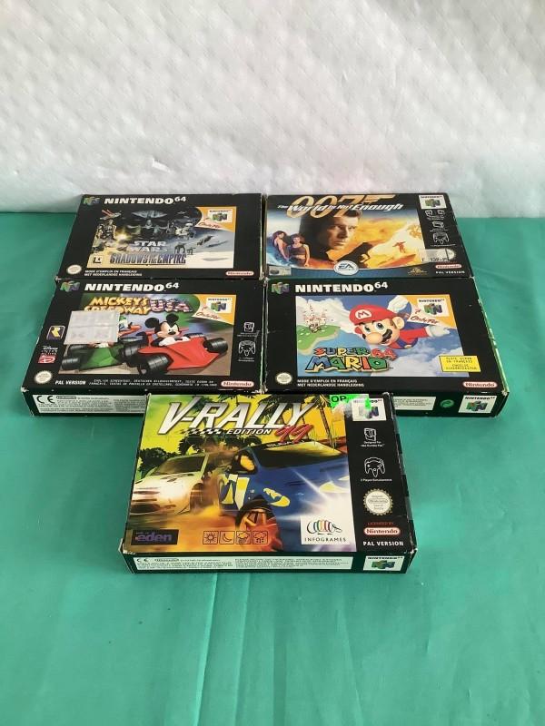 Lot van 5 Nintendo 64 games