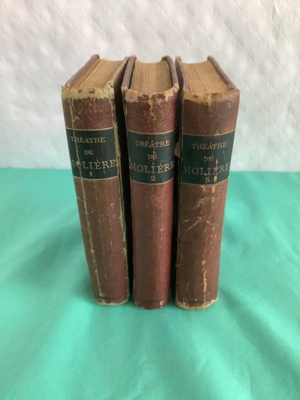boeken reeks: théatre de Molière (3 volumes)