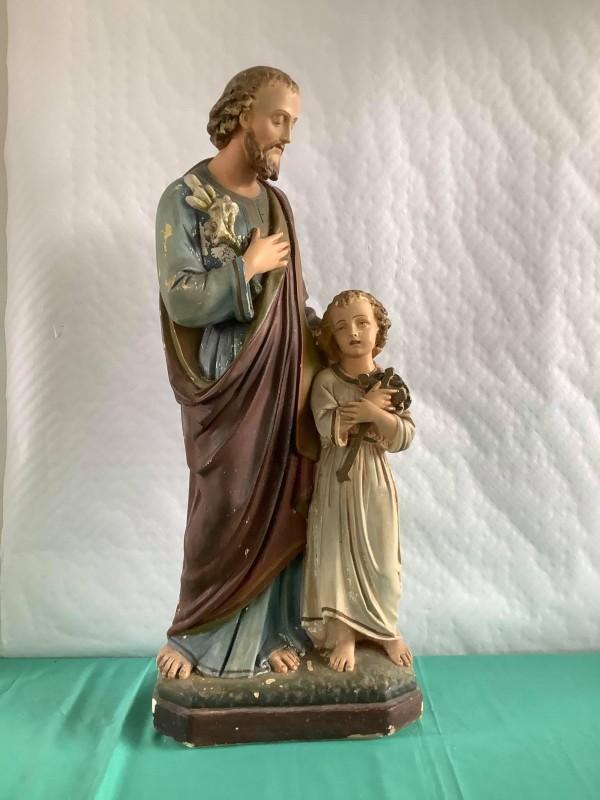 Heiligenbeeld van Sint-Jozef en kind