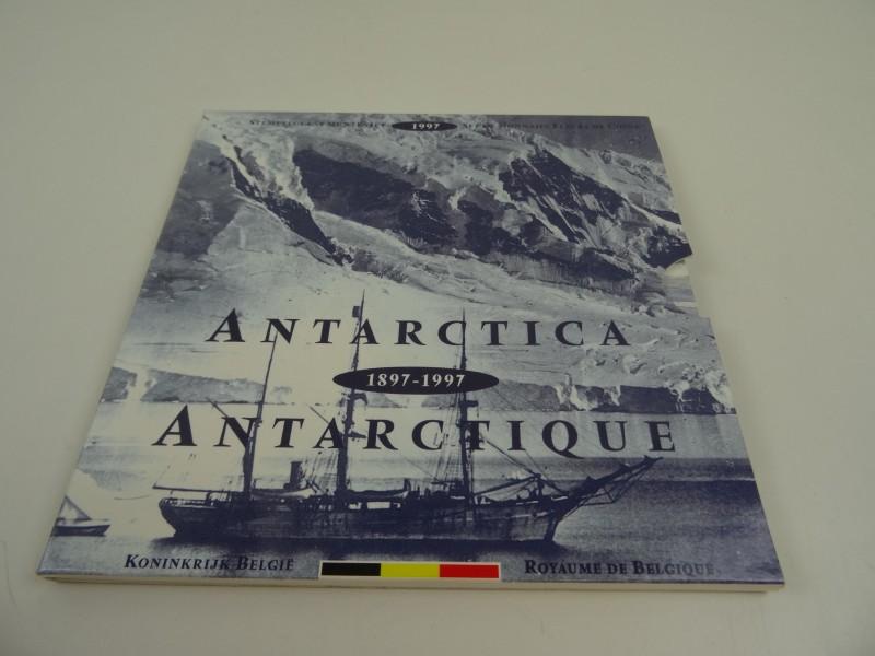 Stempelglans muntenset 100ste verjaardag Zuidpoolexpeditie Adrien de Gerlache